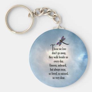 """Dragonfly """"So Loved"""" Poem Key Ring"""