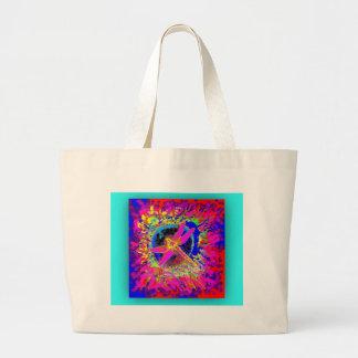 Dragonfly Splash by Sharles Large Tote Bag