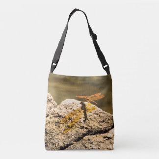Dragonfly Sun Bathing Crossbody Bag
