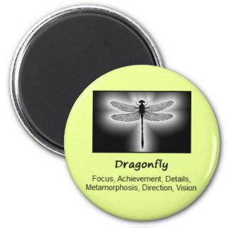 Dragonfly Totem Animal Spirit Meaning 6 Cm Round Magnet