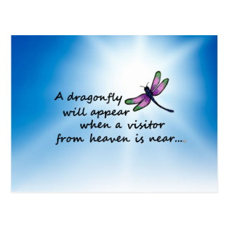 Dragonfly, Visitor from Heaven Postcard