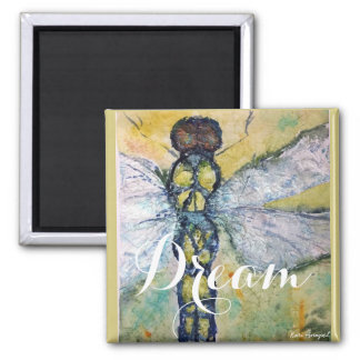 Dragonfly Watercolor Dream Magnet