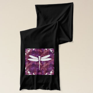 Dragonfly Watercolor White Purple Dragonflies Scarf