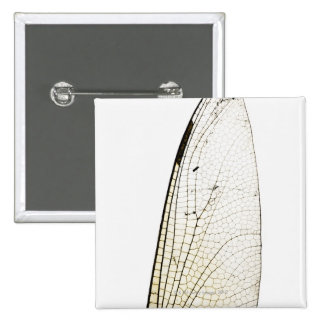 Dragonfly wing 15 cm square badge