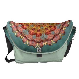 Dragonfly Wing Mandala Messenger Bag