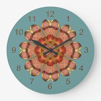 Dragonfly Wing Mandala Wall Clock