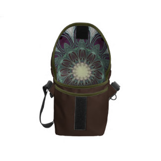 Dragonfly Wings Clock Messenger Bag
