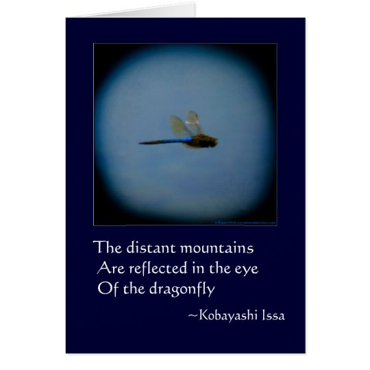 Dragonfly with Haiku blank or greeting card