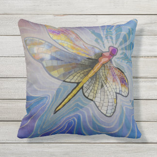 Dragonfly Woman Pillow