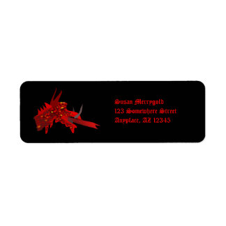 Dragonhead Halloween Return Address Label