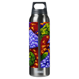 Dragonland - Green Dragons & Blue Ice Mountains 0.5L Insulated SIGG Thermos Water Bottle