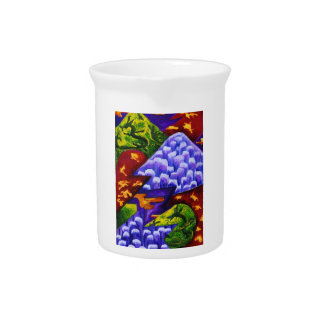 Dragonland - Green Dragons & Blue Ice Mountains Beverage Pitchers