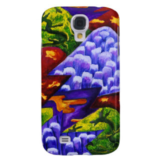 Dragonland - Green Dragons Blue Ice Mountains Samsung Galaxy S4 Cases