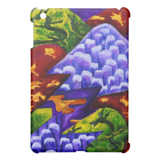 Dragonland - Green Dragons & Blue Ice Mountains Case For The iPad Mini