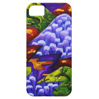 Dragonland - Green Dragons & Blue Ice Mountains Case For The iPhone 5