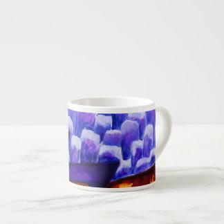 Dragonland - Green Dragons & Blue Ice Mountains Espresso Mug