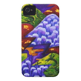 Dragonland - Green Dragons & Blue Ice Mountains iPhone 4 Case-Mate Case