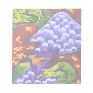 Dragonland - Green Dragons & Blue Ice Mountains Memo Notepads