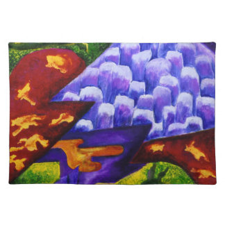 Dragonland - Green Dragons & Blue Ice Mountains Place Mats