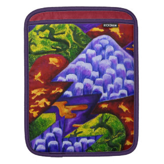 Dragonland - Green Dragons & Blue Ice Mountains Sleeves For iPads