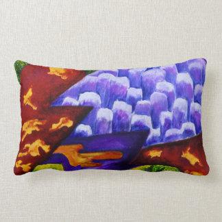 Dragonland - Green Dragons & Blue Ice Mountains Throw Cushions