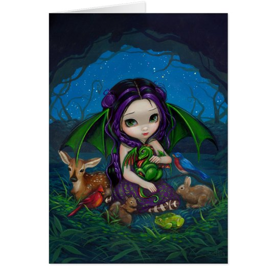 """Dragonling Garden III"" Greeting Card"