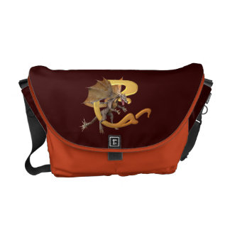 Dragonlore Initial C Courier Bag