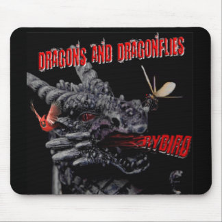 Dragons and Dragonflies Mousepad by Rybird