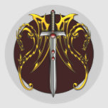 DRAGONS AND SWORD STICKER