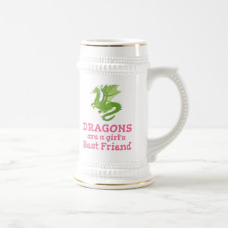Dragons are a Girl's Best Friend Beer Stein