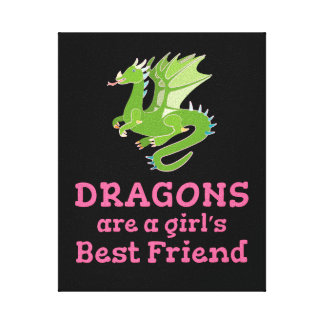 Dragons are a Girl's Best Friend Canvas Print