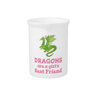 Dragons are a Girl's Best Friend Pitcher