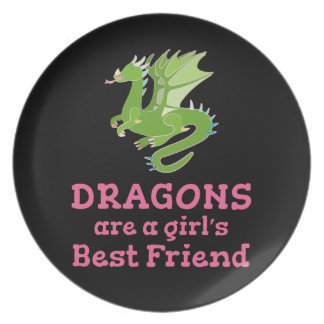 Dragons are a Girl's Best Friend Plate