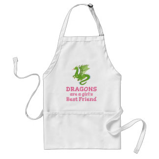 Dragons are a Girl's Best Friend Standard Apron