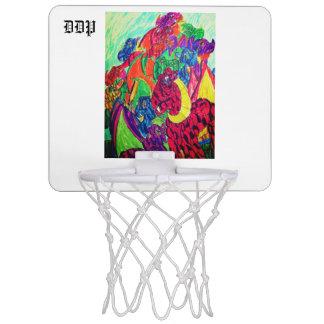 Dragons art mini basketball hoop