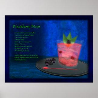 Dragons Cocktail Bar: Blackberry Blues Poster