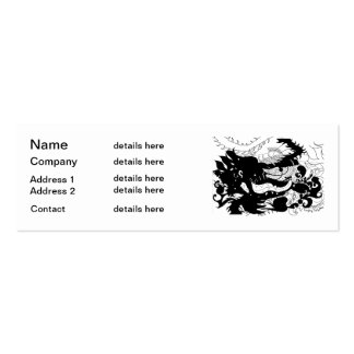 Dragons Den (silhouette) Pack Of Skinny Business Cards