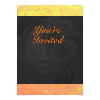 Dragons Eye Orange and Black Monogram 14 Cm X 19 Cm Invitation Card