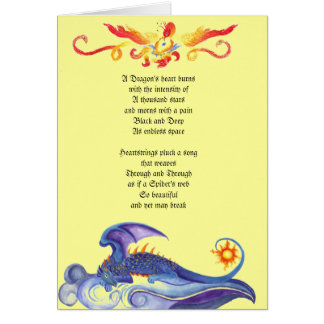 Dragon's heart poem card