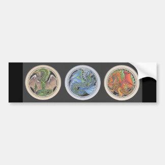 Dragons in a Row Bumper Sticker