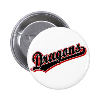 Dragons in Black and Red Pinback Button