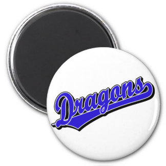 Dragons in Blue Magnet