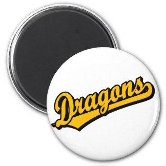 Dragons in Orange Refrigerator Magnet