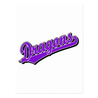 Dragons in Purple Postcard
