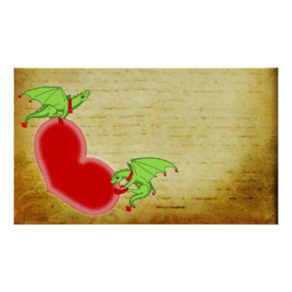 Dragons Love lettar Poster