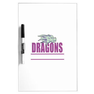DRAGONS MASCOT Dry-Erase BOARDS