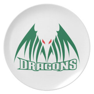 DRAGONS MASCOT PARTY PLATE