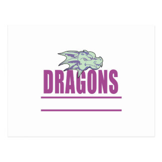 DRAGONS MASCOT POSTCARD