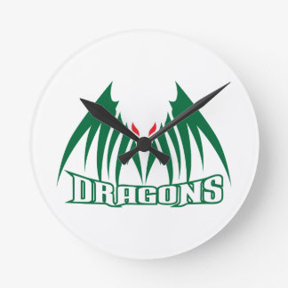 DRAGONS MASCOT WALL CLOCKS