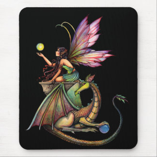 Dragon's Orbs Fairy and Dragon by Molly Harrison Mouse Pad